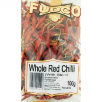 Fudco Whole Red Long Chilli With Stem 100g
