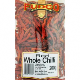 Fudco Whole Red Long Chilli 200g