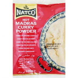 Natco Hot Madras Curry Powder(Jar) 100g