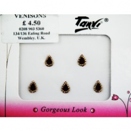 Marron and Gold Designer Bindi Packet