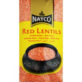 Natco Red Lentils (Masoor Dal) Polished 1 Kg