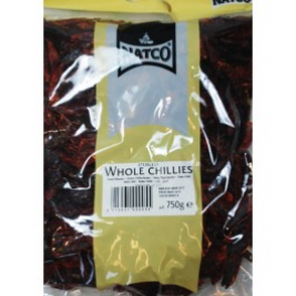 Natco Whole Red Chilli (Stemless) 750g