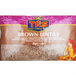TRS Whole Brown Lentils (Masoor Dal) 2 Kg